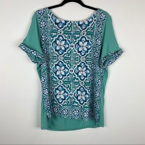 The Limited Front Panel Cuffed Sleeve Top Blouse
